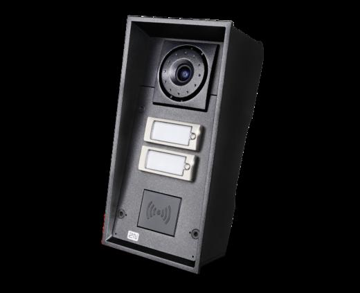 2N IP Force m. 2 Klingel und HD-Kamera, 10W Laut, RFID-Ready